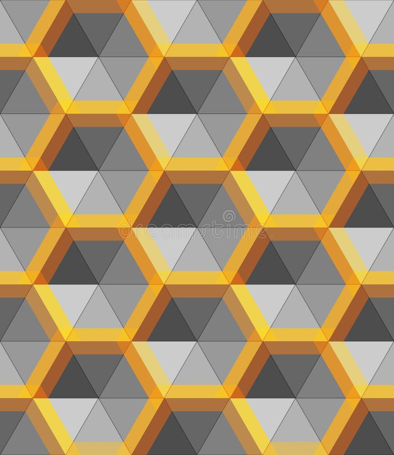Free Hexagon Silver And Gold Abstract Form, Vector Metal Object Royalty Free Stock Image - 134720646