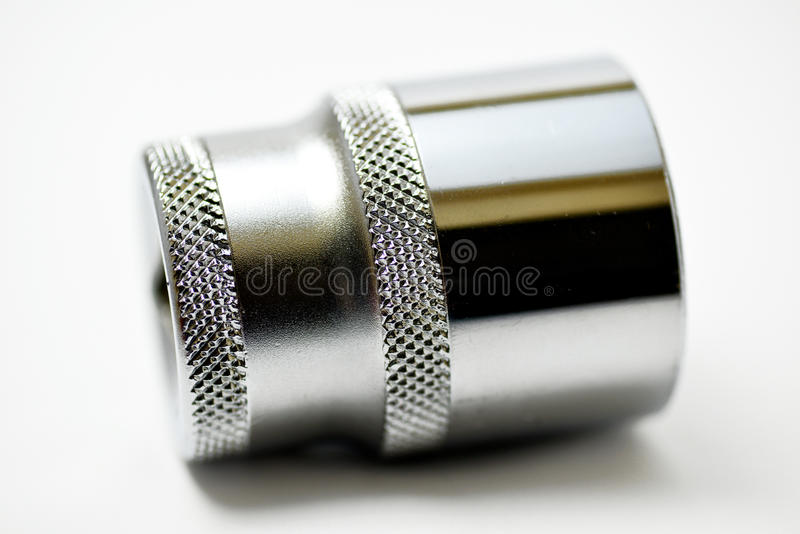 Hexagon socket. Torque hexagon socket ( on white royalty free stock photography