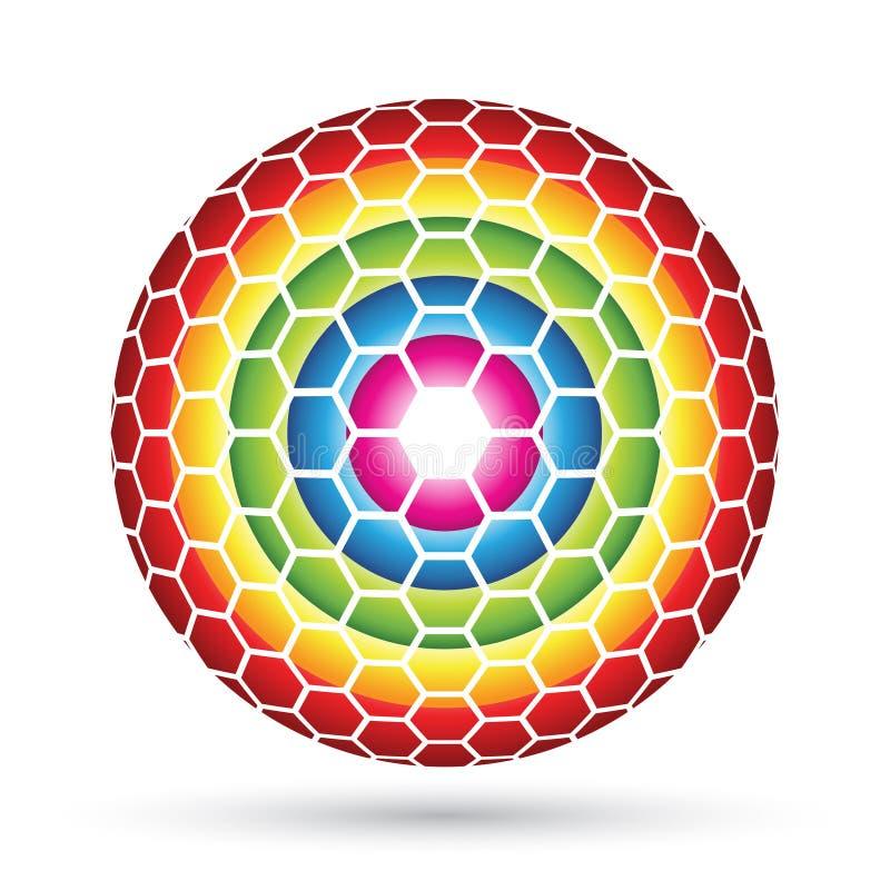 Hexagon Sphere Royalty Free Stock Photo