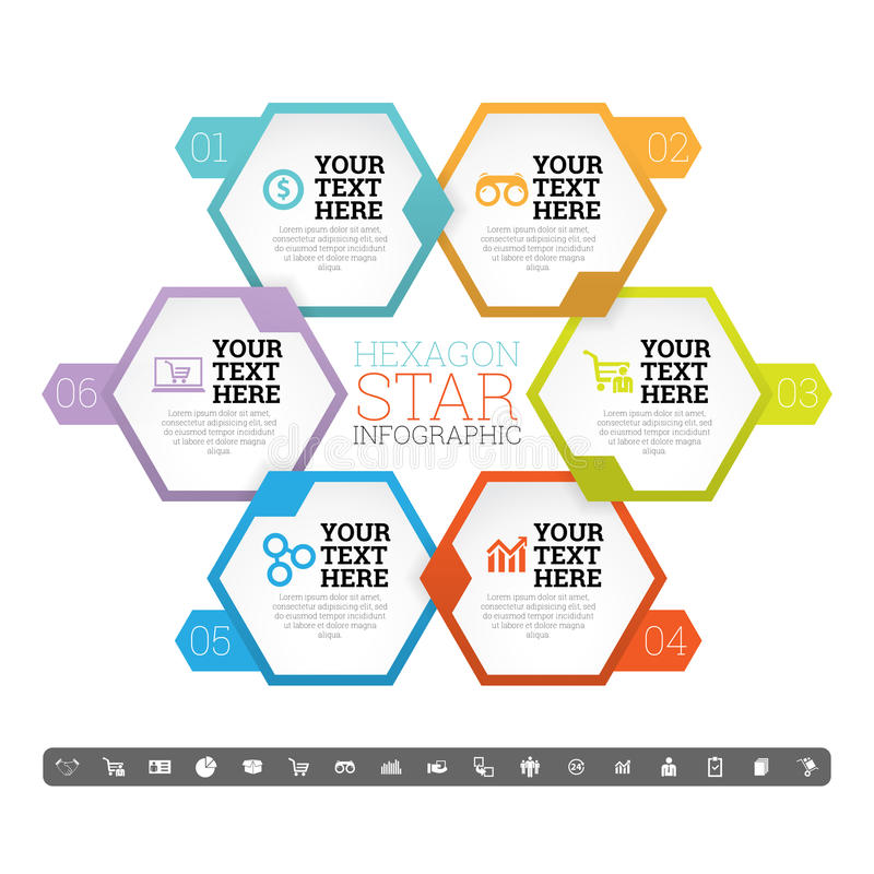 Free Hexagon Star Infographic Stock Photo - 42520580