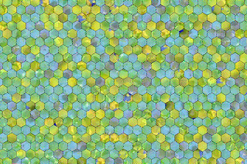 Hexagon strip colorful pattern, texture for design background. vector illustration