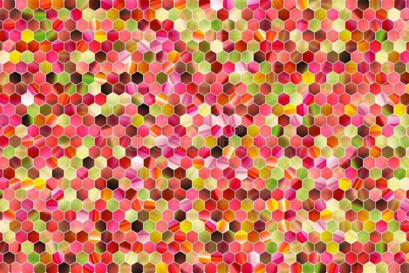 Hexagon strook kleurrijk patroon, textuur voor ontwerpachtergrond royalty-vrije illustratie