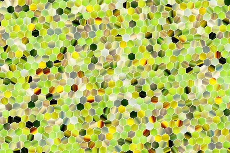 Hexagon strook kleurrijk patroon, textuur voor ontwerpachtergrond stock illustratie