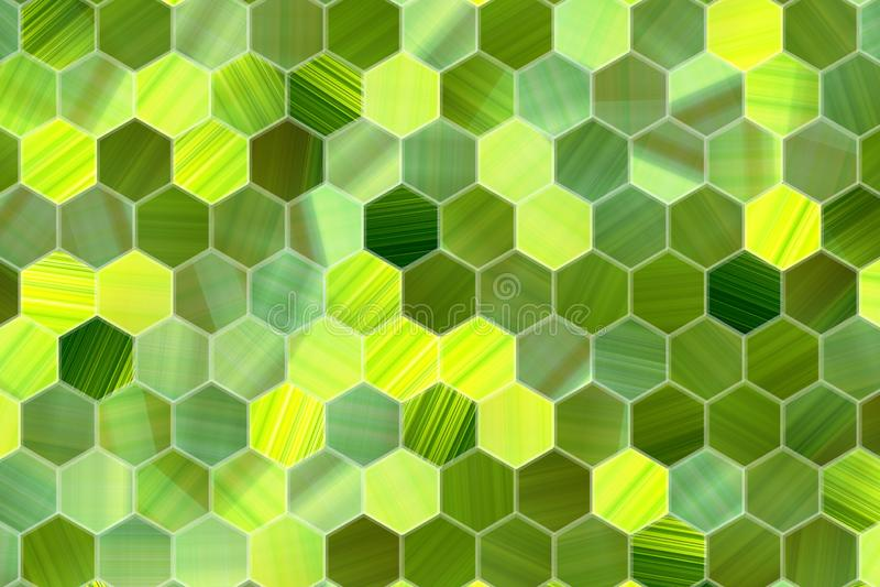 Hexagon strook kleurrijk patroon, textuur voor ontwerpachtergrond vector illustratie