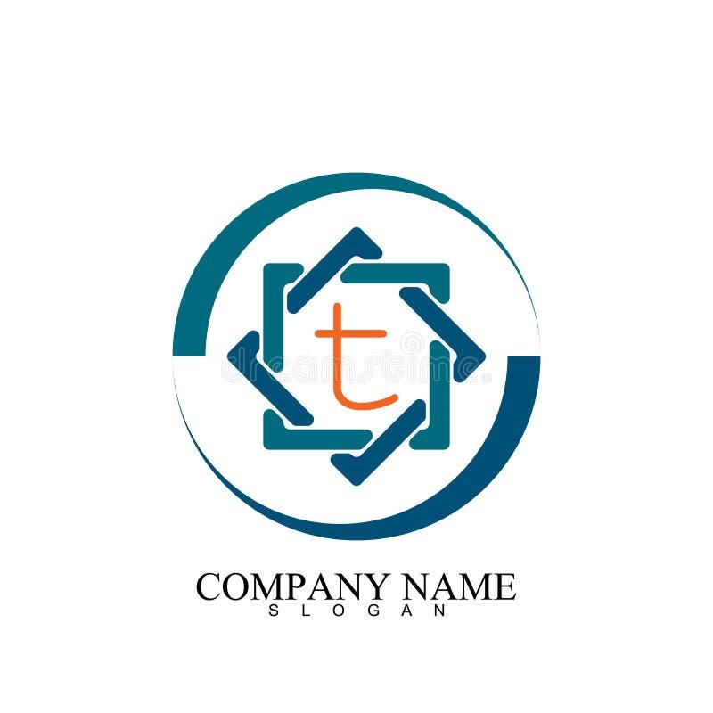 hexagon t letter icon illustration vector template stock photos