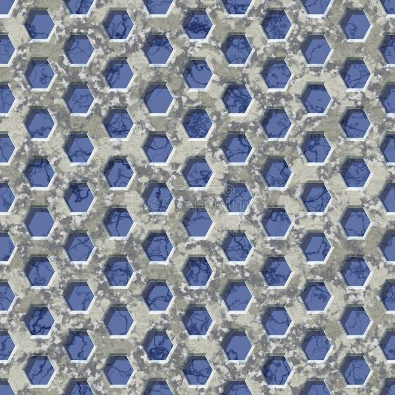 Hexagon textuur van netwerk marmeren naadloze geproduceerde huren vector illustratie