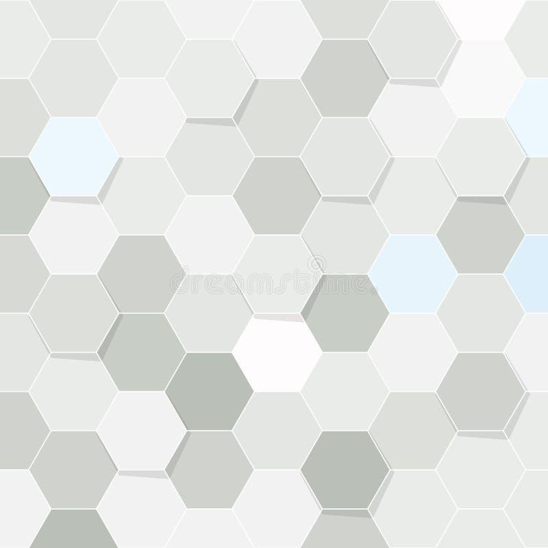 Hexagon tile transparent background stock illustration