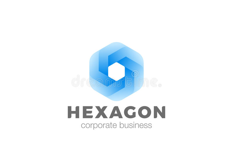 Hexagon van het de oneindigheidsontwerp van het vorm abstracte collectieve Embleem vectormalplaatje Bedrijfsfinanciëntechnologie  vector illustratie