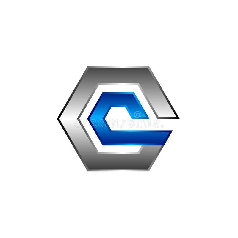 Hexagon - Vector logo concept illustration. Hexagon geometric polygonal logo. Hexagon abstract logo. Vector logo template. Design element royalty free illustration