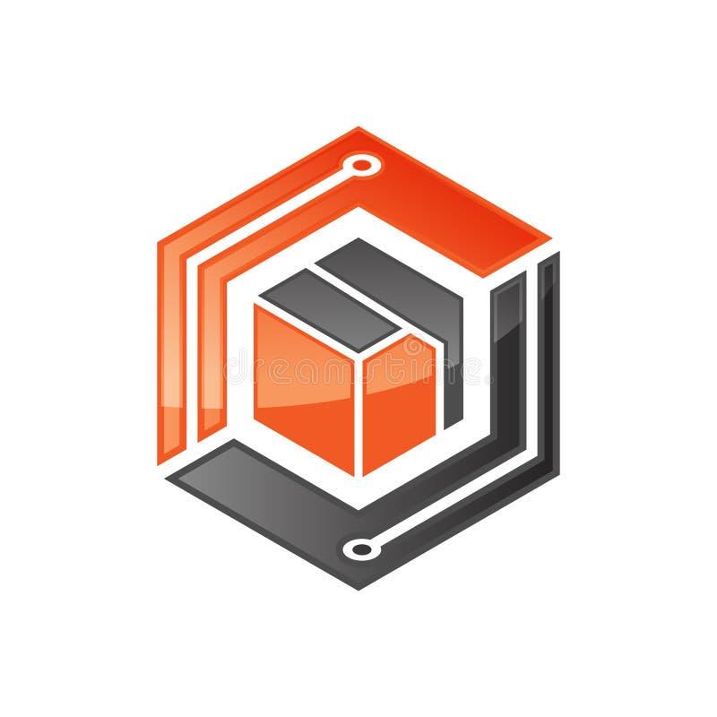 Hexagon - Vector logo concept illustration. Hexagon geometric polygonal logo. Hexagon abstract logo. Vector logo template. Design element vector illustration