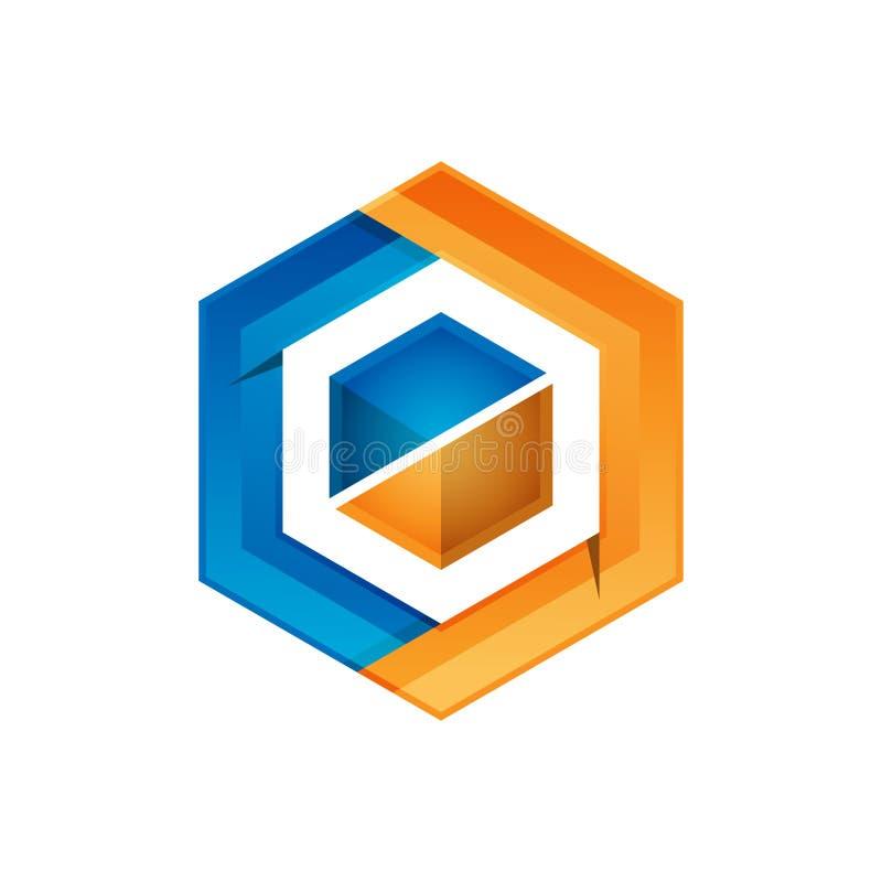 Hexagon - Vector logo concept illustration. Hexagon geometric polygonal logo. Hexagon abstract logo. Vector logo template. Design element stock illustration