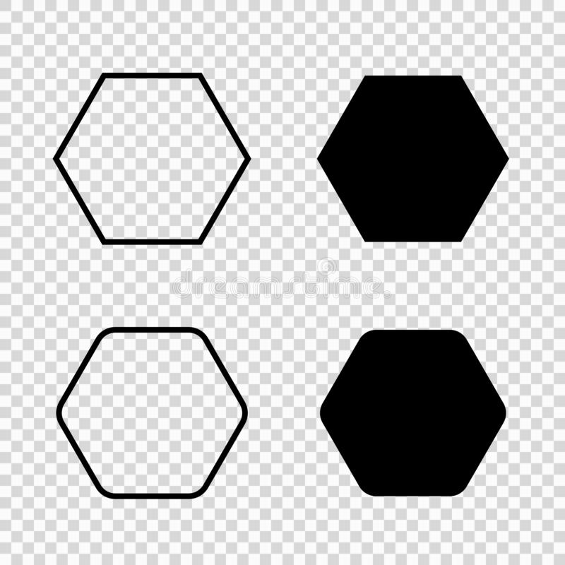 Hexagon vectorpictogram vector illustratie