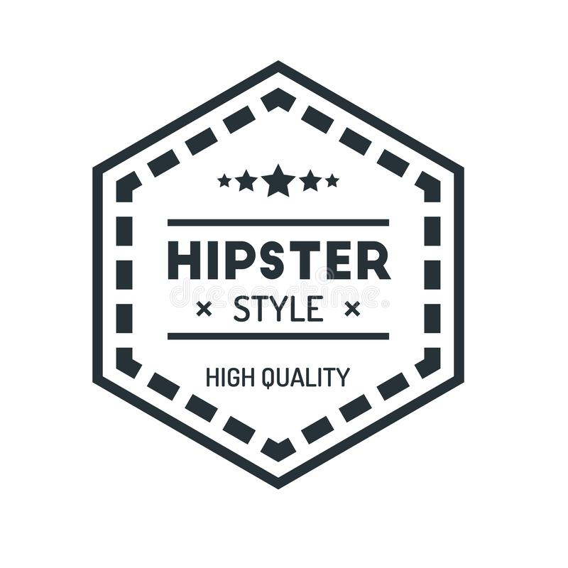 Hexagon Vintage Hipster Badge Logo Design Template Vector Symbol
