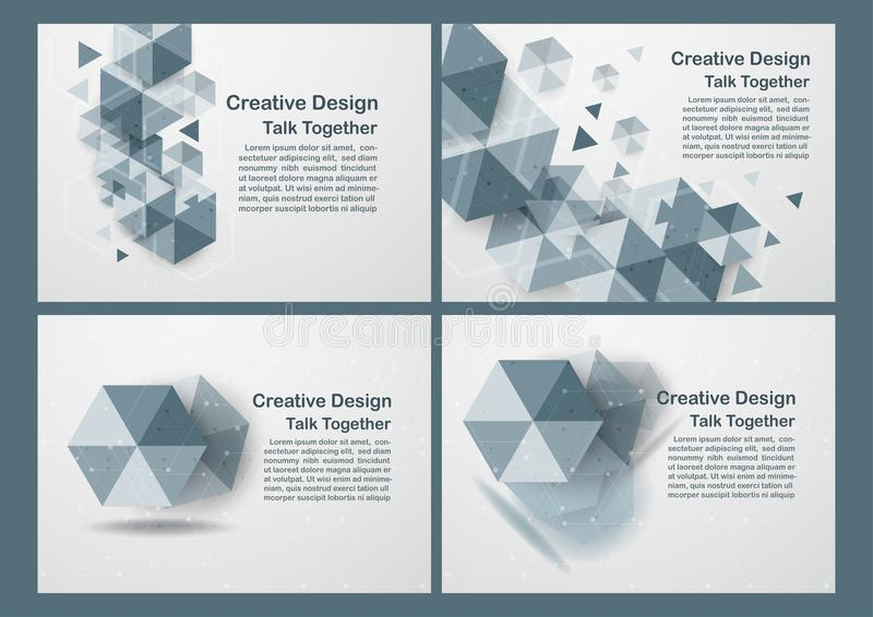 Hexagon on white and grey background with copy space for text. V. Ector illustration vector illustration