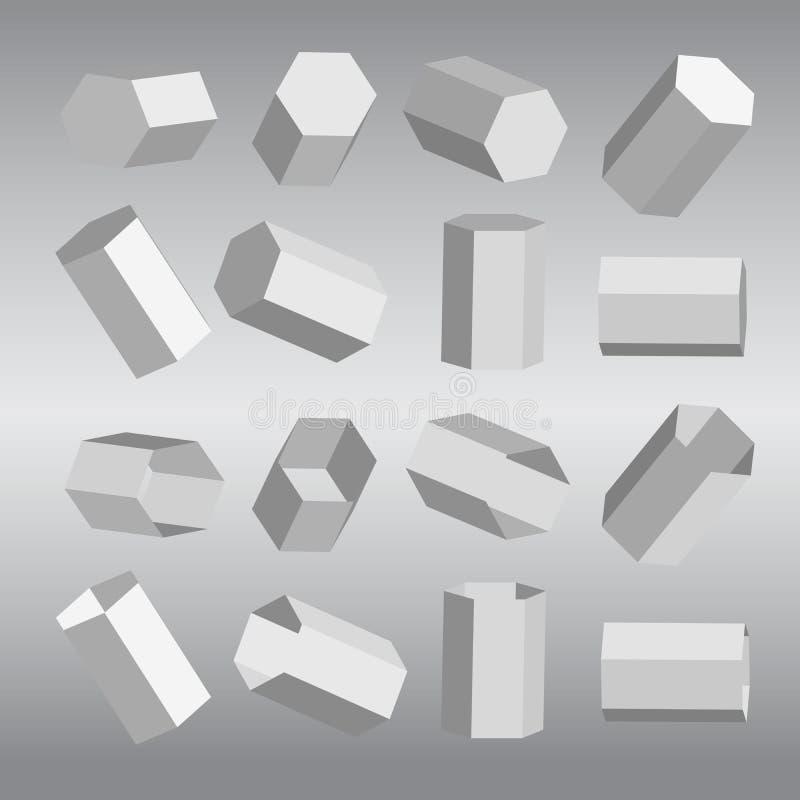 Hexagona и полость стоковое изображение