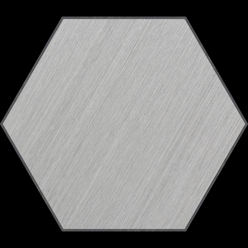 Hexagonaal Aluminium Afgeschuind Comité met het Knippen van Weg royalty-vrije stock foto