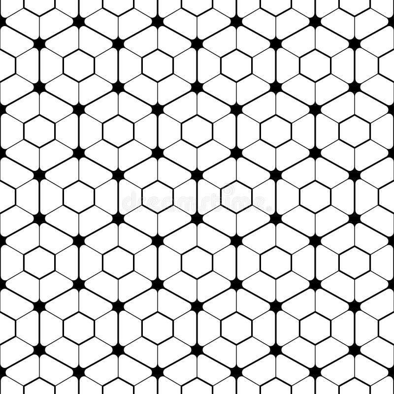 Hexagonaal bewerkt patroon vector illustratie