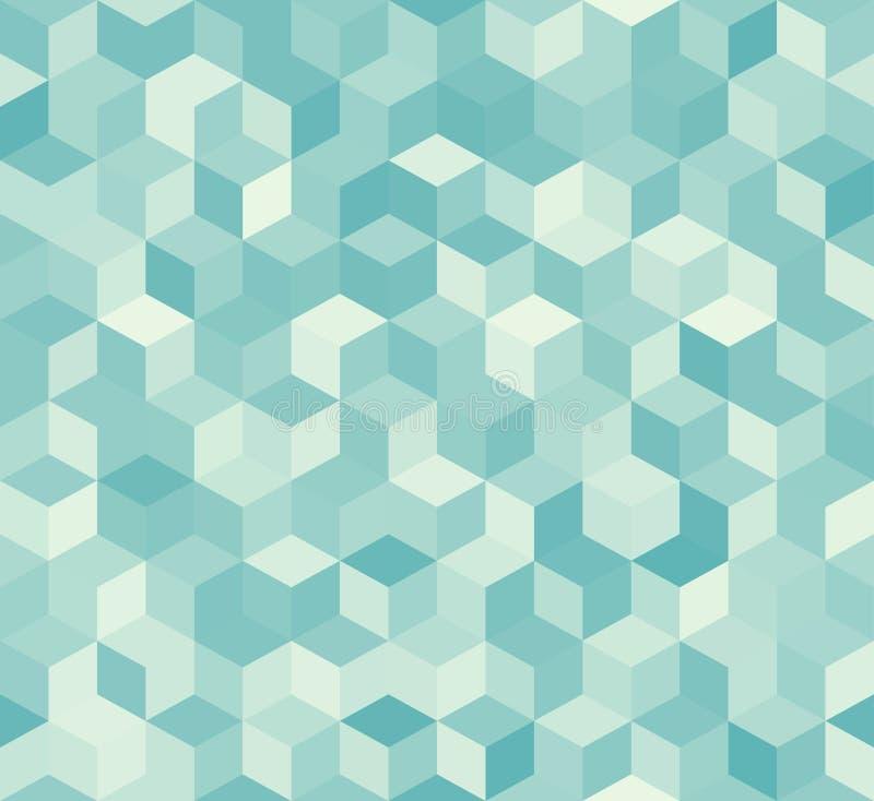 Hexagonaal blauw naadloos patroon vector illustratie