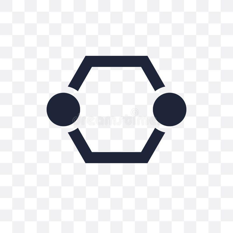 Hexagonaal Interconnecties transparant pictogram Hexagonale Interconn royalty-vrije illustratie