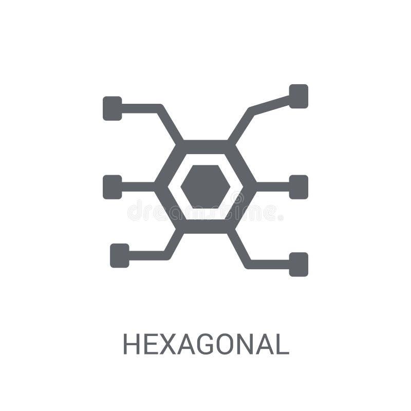 Hexagonaal Interconnectiespictogram In Hexagonale Interconnectio vector illustratie
