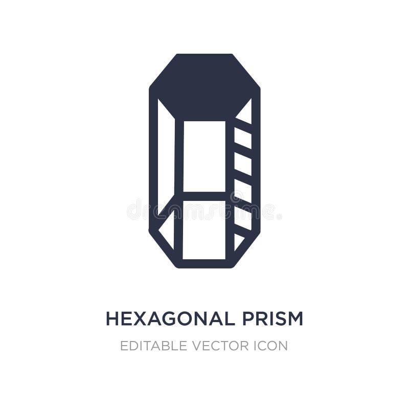 hexagonaal prismapictogram op witte achtergrond Eenvoudige elementenillustratie van Vormenconcept stock illustratie