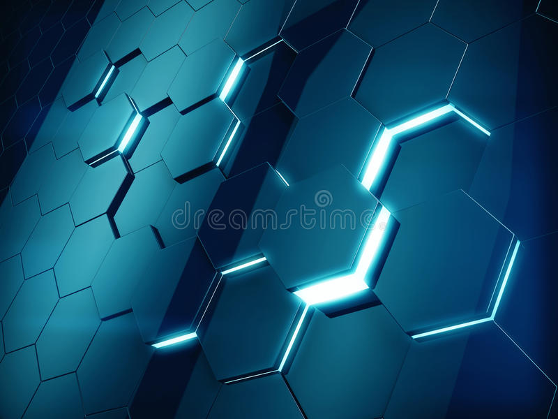 Hexagonal abstract background stock illustration