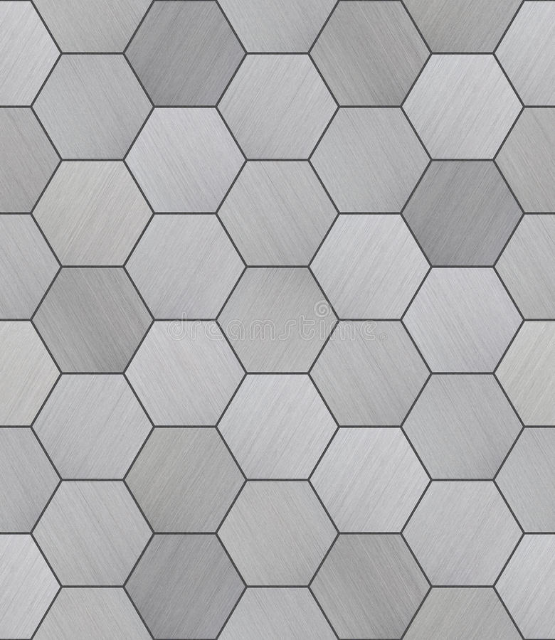 10 In Hexgon Floor Black And White