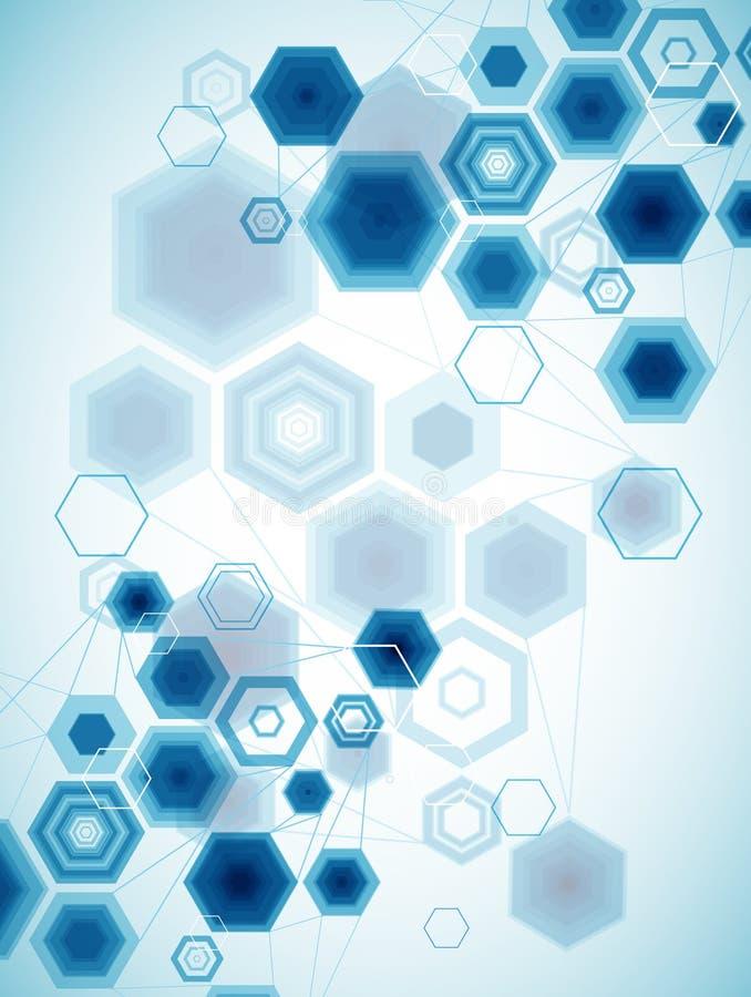 Download Hexagonal Background. stock vector. Illustration of modeling - 31556942