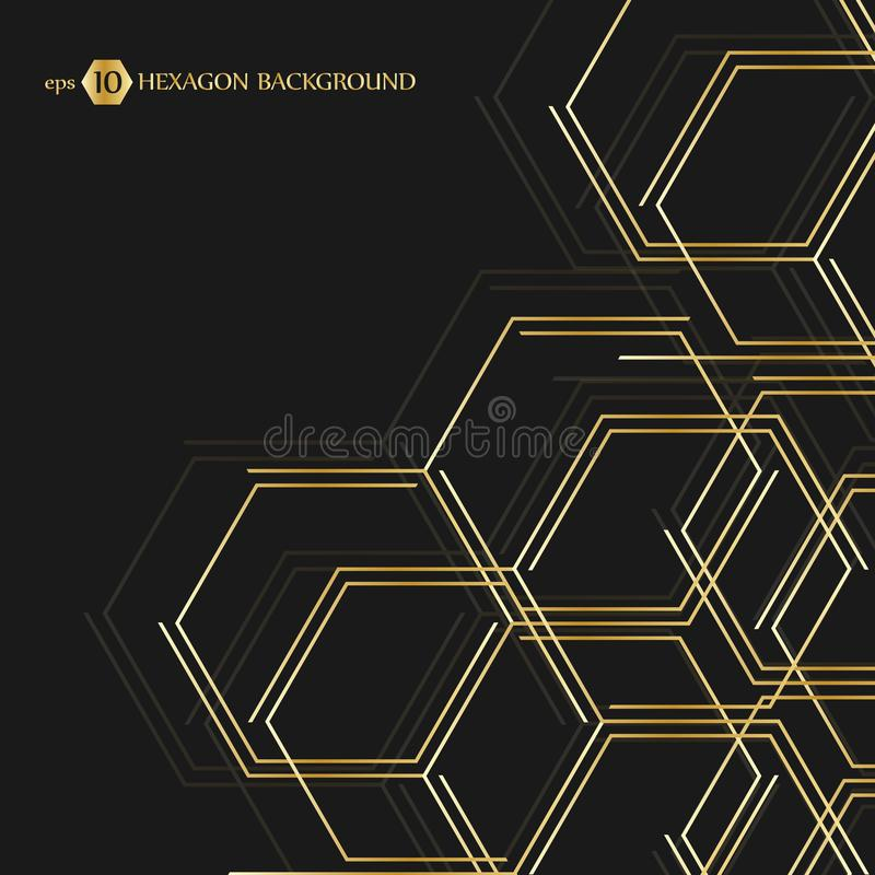 Hexagonal geometric background. Vector connection with lines and social network. Business presentation for your design. And text. Minimal graphic concept. Eps vector illustration