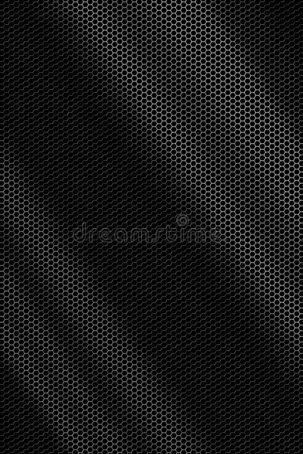 Hexagonal metal grid texture - background royalty free stock photo