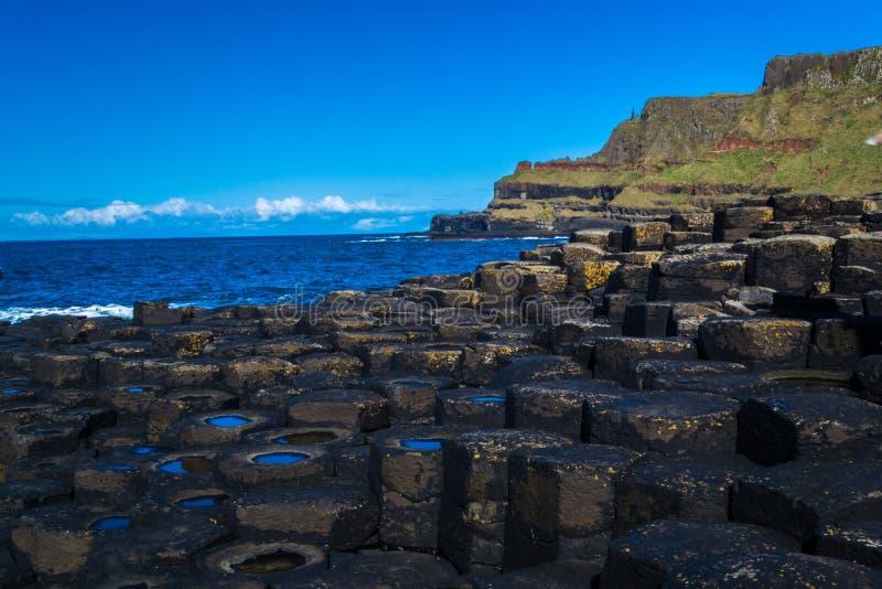Hexagonal seaside stock image
