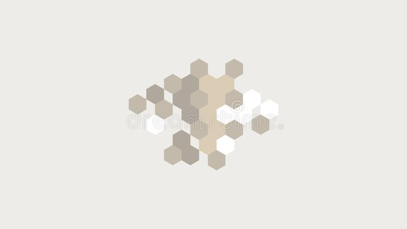 Hexagonal stripe background for wall. Polygon, polygonal, abstract, backdrop, illustration, concept, pattern, technology, geometric, graphic, texture, modern royalty free stock image