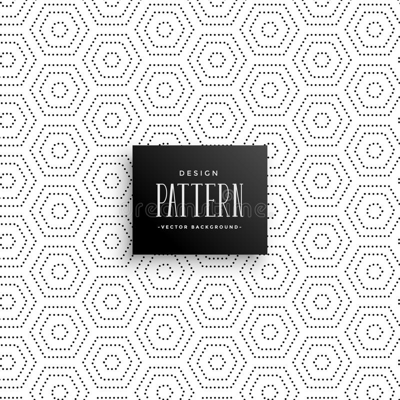 Hexagonal subtle dots pattern background royalty free illustration