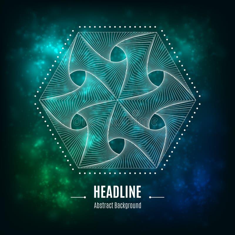 Hexagonal vector 3d abstract geometric shape on a light background vector illustration