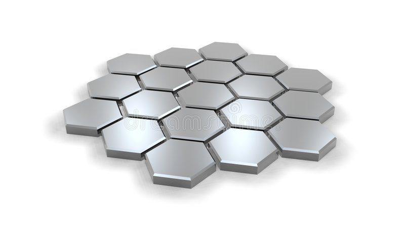 Hexagonal01 illustration stock