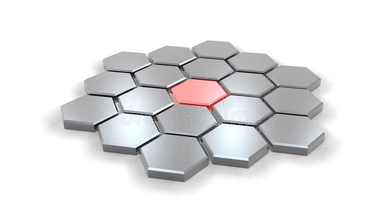 Hexagonal02 ilustração royalty free
