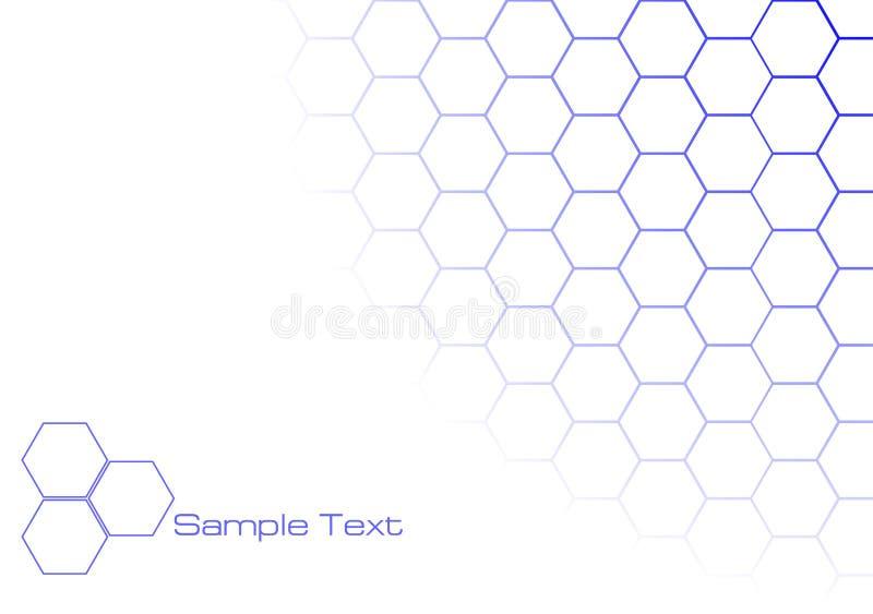 Hexagonale Achtergrond stock illustratie