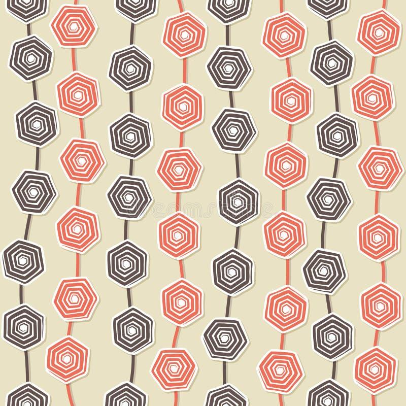 Hexagonale ontwerpachtergrond royalty-vrije illustratie