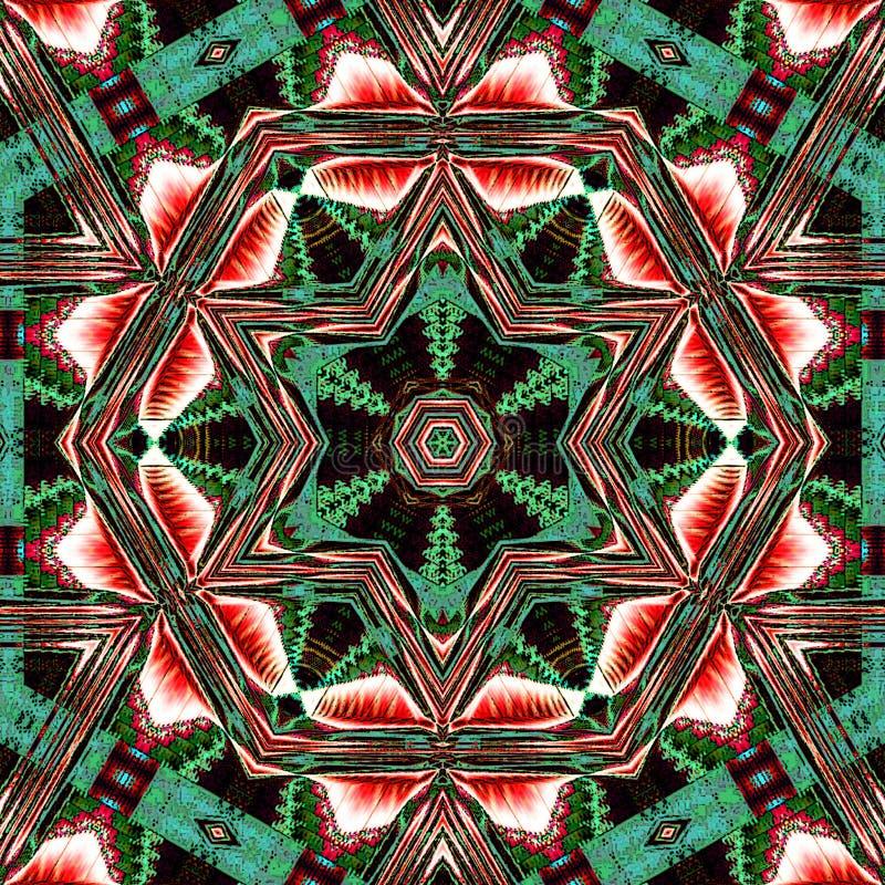 Hexagonale wintertalings arabesque imitatie van tegel stock foto's