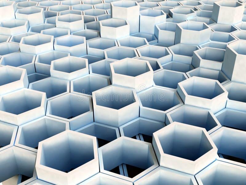 Hexagone 01 images libres de droits