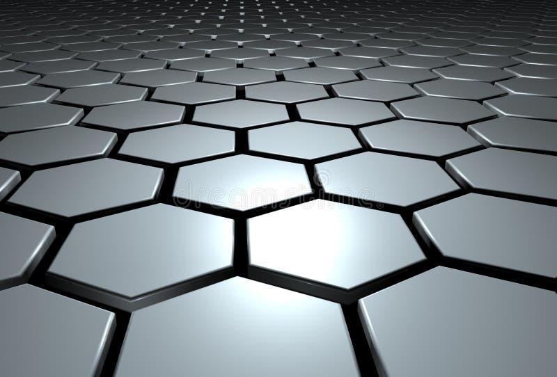 Hexagone vektor abbildung