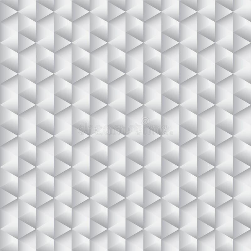 Hexagone abstrait de gamme de gris illustration de vecteur