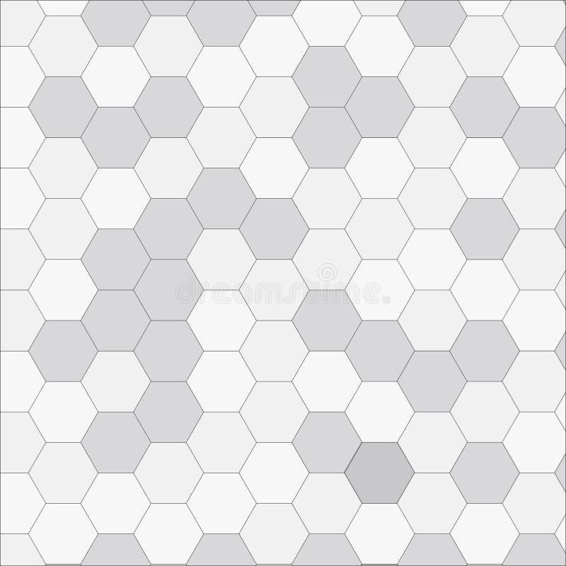 Hexagone blanc géométrique de texture illustration de vecteur