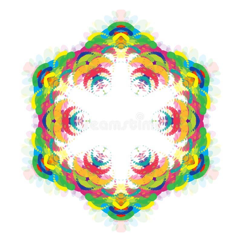 Hexagone coloré lumineux abstrait universel illustration stock