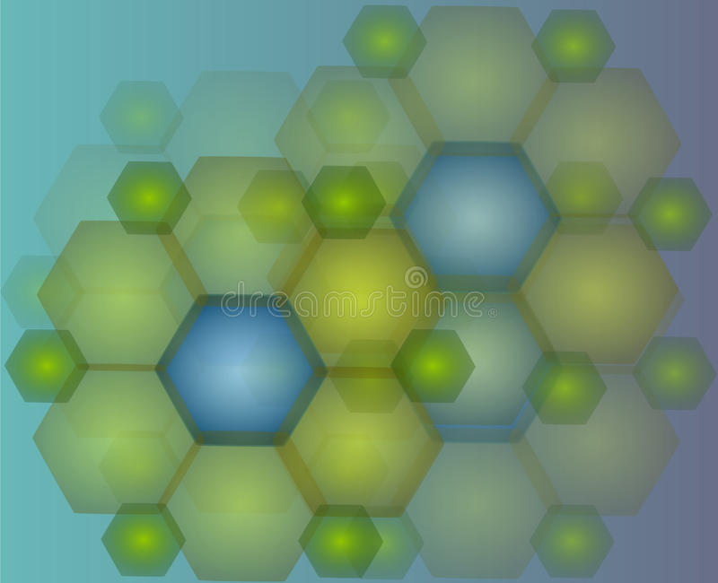 Hexagone de fond illustration stock