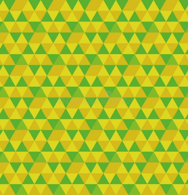 Hexagone de vecteur de modèle sans couture de triangles Répétition de la grille triangulaire géométrique Vecteur et illustration illustration libre de droits