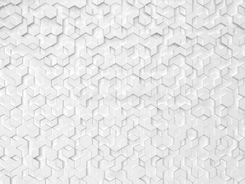 Hexagone gemacht von den Rauten lizenzfreie abbildung