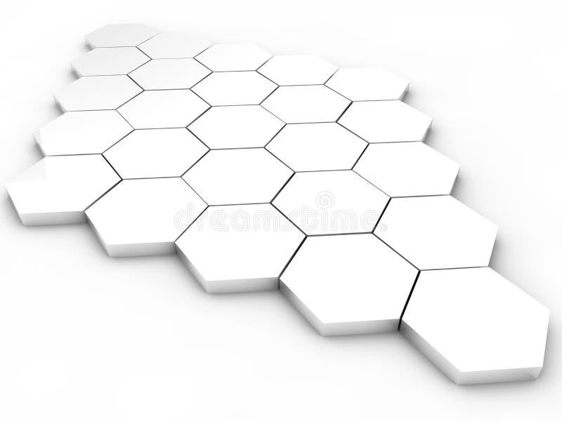 Hexagones illustration libre de droits