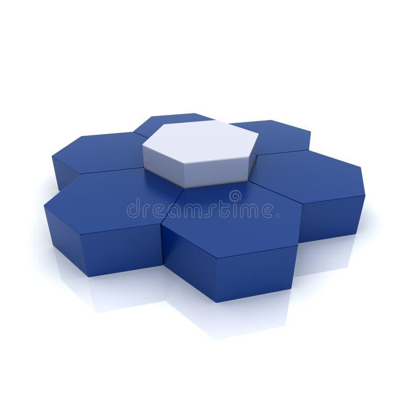 Hexagones d'unicité illustration de vecteur