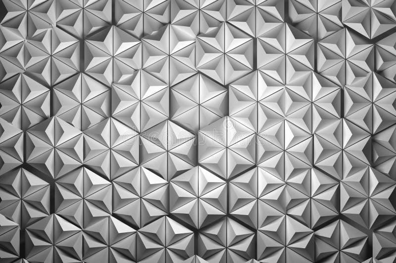 Hexagones faits de pyramides illustration de vecteur
